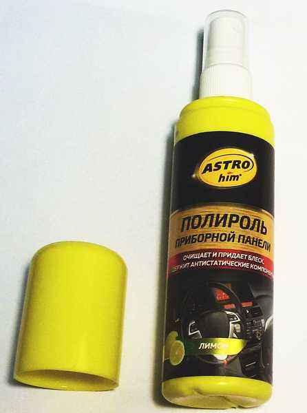 Полироль для пластика АС-2305 Астрохим, спрей (125мл) Лимон, глянцевый - изображение