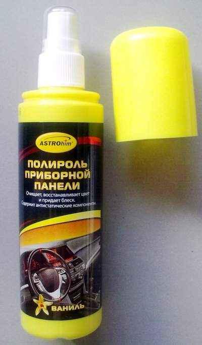 Полироль для пластика АС-2301 Астрохим, спрей (125мл) Ваниль, глянцевый - изображение