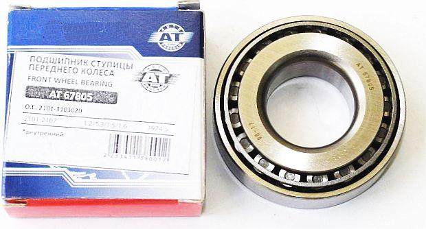 Подшипник передней ступицы ВАЗ 2101-2107, 1111 внутренний конический 7805 AT AT67805 (2101-3103020) - изображение 1