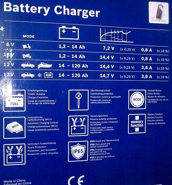 Устройство для заряда аккумулятора BOSCH 0 189 999 03M - изображение 3