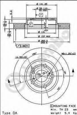 Тормозной диск BREMBO 09.7395.10 - изображение 3