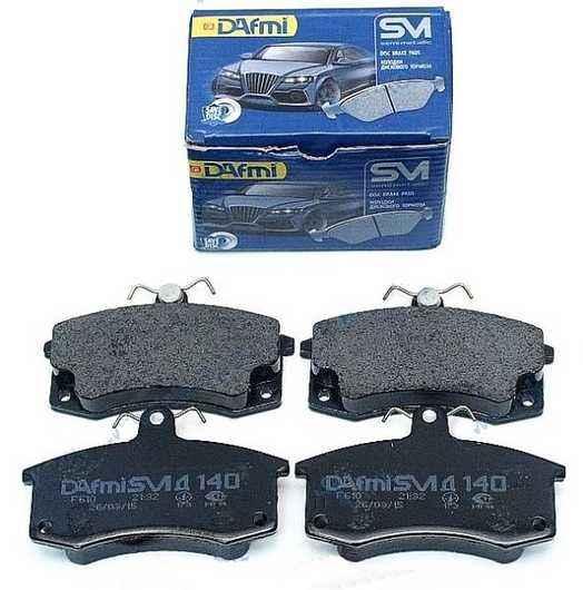 Колодки тормозные  ВАЗ 2108-2110 передние без датчика износа DAFMI D140SM (2108-3501080) - изображение