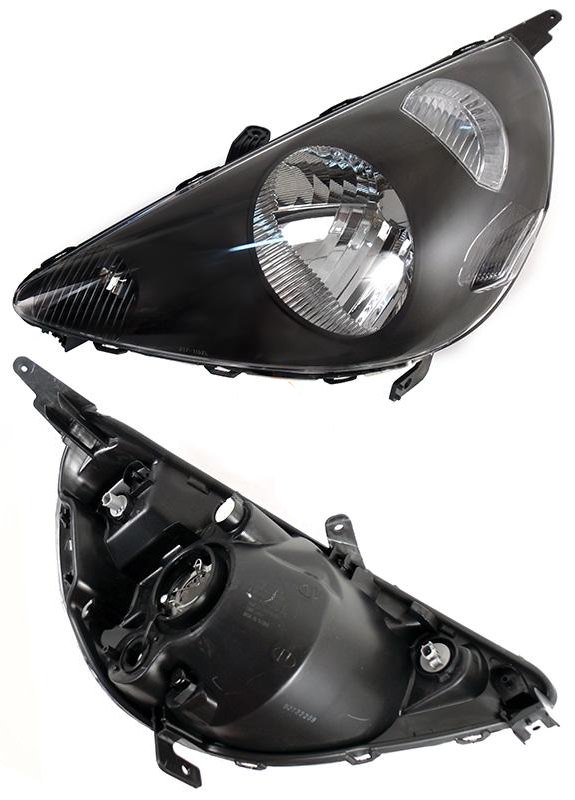 Фара HONDA FIT 01-07 5D черная под электрокорректор <b>DEPO 217-1148L-LEMD2</b> - изображение