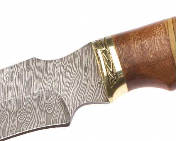 Нож туристический 140мм Эльбрус  Клык, дамаск - изображение 1
