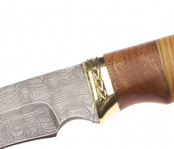 Нож туристический 110мм Эльбрус  Тайга, дамаск - изображение 2