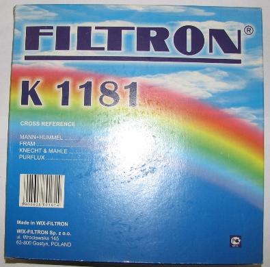 Фильтр салонный FILTRON K1181 - изображение 1
