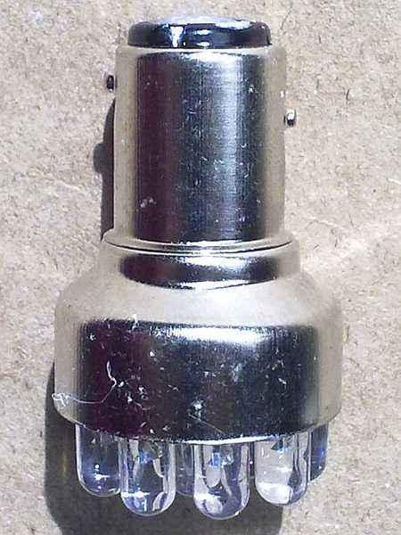 Лампа (LS74) светодиодная 1157-SMD12 (21/5w) BAY15d (2конт) 12 SMD диодов, белая 12v - изображение 1