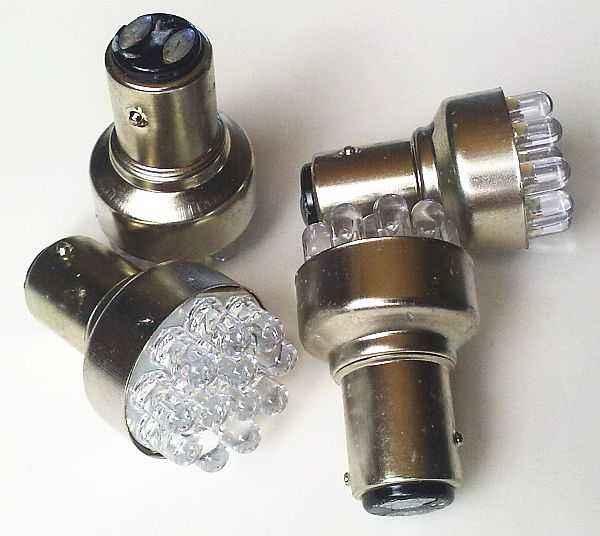 Лампа (LS74) светодиодная 1157-SMD12 (21/5w) BAY15d (2конт) 12 SMD диодов, белая 12v - изображение 2