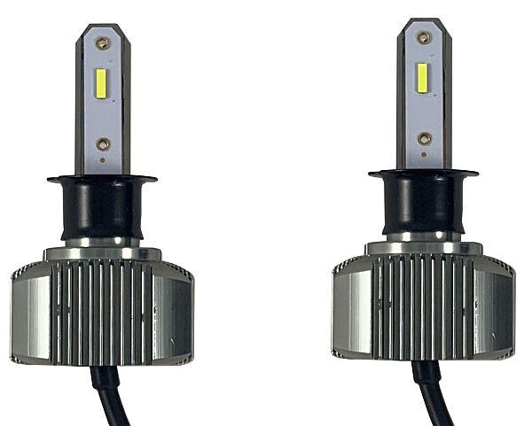 Лампа H3 светодиодная (2шт) 9-32V 36W 4500LM 5500K KS-P2-H3NX High Power IP65 радиатор охлаждения - изображение