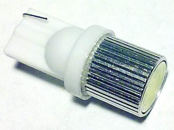 Лампа (LS06) светодиодная T10-SMD-1W (W2,1-9,5d) б/ц 1 сверхмощный диод 1W, белая 12V - изображение