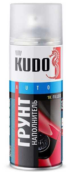 Грунт-наполнитель акриловый белый для металла KUDO KU-2204 (520 мл) аэрозоль - изображение