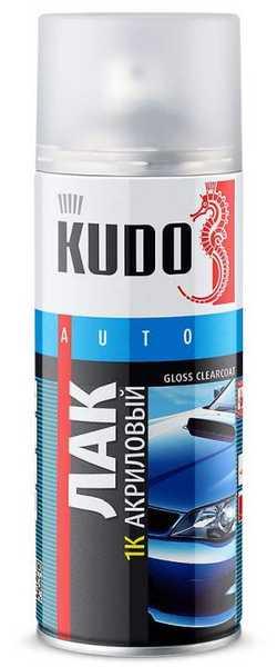 Лак для кузова 1К прозрачный акриловый KUDO KU-9010 аэрозоль (520 мл) - изображение 1
