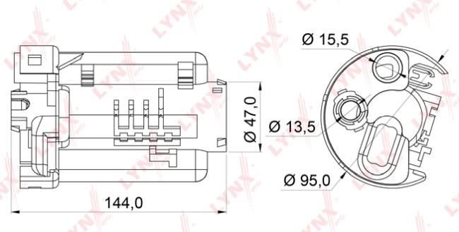 Фильтр топливный LYNXauto LF-165M - изображение 1