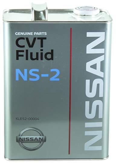 Масло трансмиссионное синтетическое 4л Nissan CVT NS-2 KLE52-00004 - изображение