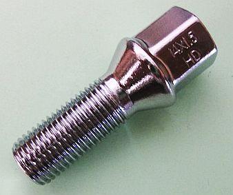 Болт колеса М14х31х1,5 ключ 17 конус - изображение