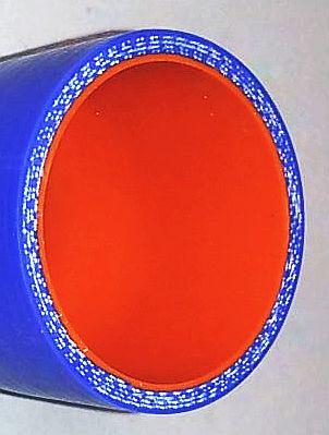 Шланг 48мм силиконовый армированный синий/оранжевый (цена за 10см)  - изображение