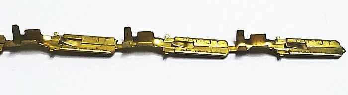 Разъем электрический внутренний (папа) 6,3мм с фиксацией латунь - изображение 1