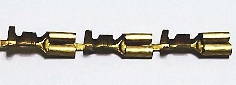 Разъем электрический наружный (мама) 6,3мм с фиксацией латунь - изображение 1
