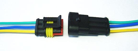 Разъем 3 контакта герметичный - изображение