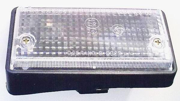 Подфарник ВАЗ-2101 правый белый рассеиватель черный корпус УП-148 (2101-3712011) - изображение