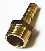 Штуцер с наружней резьбой 1/4 под шланг  6мм , латунный - изображение