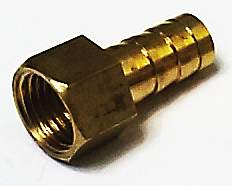 Штуцер с внутренней резьбой 1/4 под шланг 10мм , латунный - изображение