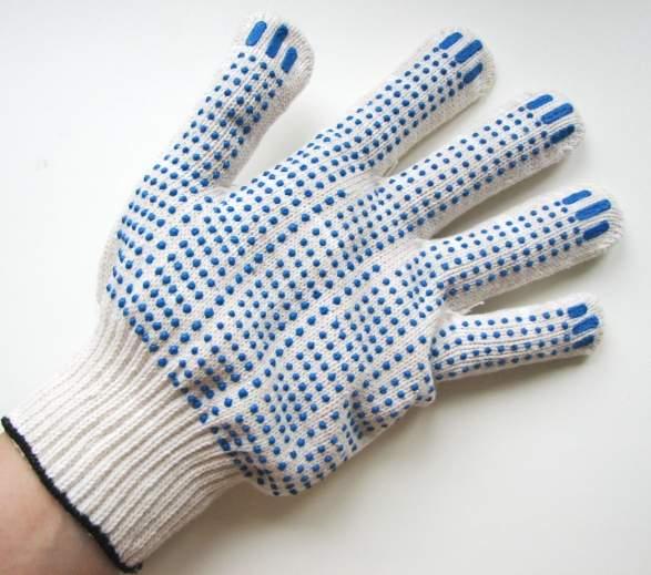Перчатки  х/б с напылением - изображение 1