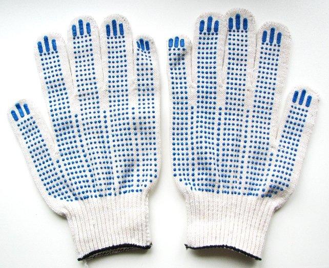 Перчатки  х/б с напылением - изображение