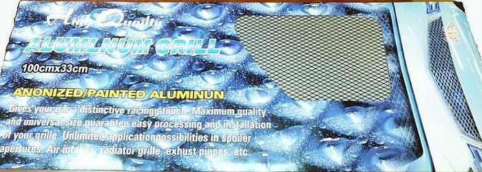 Сетка декоративная на бампер BD-0012 (100х37см) черная, средняя ячейка - изображение 1