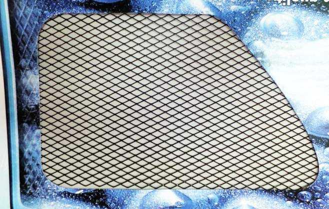 Сетка декоративная на бампер BD-0012 (100х37см) черная, средняя ячейка - изображение