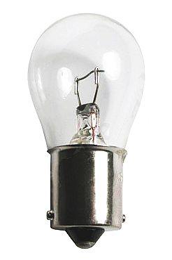 Лампа 12V 21W (P21W) бесцветная ВА15s (1конт.) поворот, стоп-сигнал - изображение