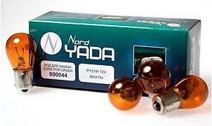 Лампа 12V 21W (PY21W) оранжевая BAU15s (выступы под 120°) NORD YADA 800044  (= 4570A KOITO) - изображение 1