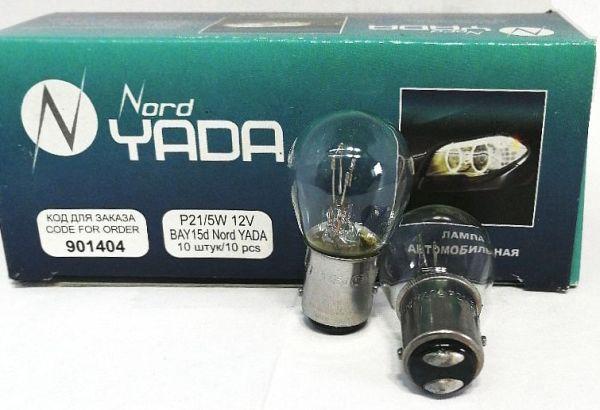 Лампа 12V 21+5W (P21/5W) 2 контакта ВАY15d беcцветная NORD YADA 901404 - изображение 1
