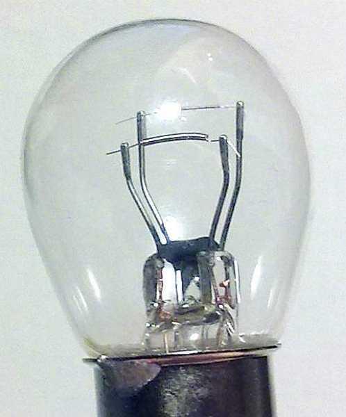 Лампа 12V 21+5W (P21/5W) 2 контакта ВАY15d беcцветная NORD YADA 901404 - изображение 3