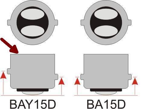 Лампа 12V 21+5W (P21/5W) 2 контакта ВАY15d беcцветная NORD YADA 901404 - изображение 5