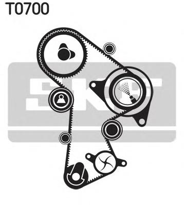 Водяной насос + комплект зубчатого ремня SKF VKMC 01148-2 - изображение 4