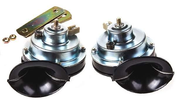 Сигналы звуковые ВАЗ 2101, 2103, 2106 комплект низкий+высокий тон  (2103-3721014 + 2103-3721010) - изображение