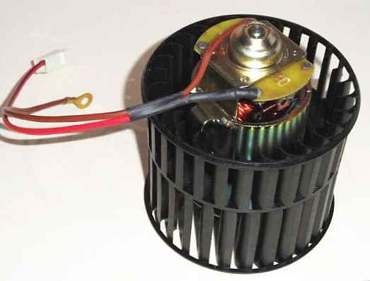 Мотор отопителя ВАЗ 2108-2110, ИЖ 2126 с крыльчаткой СОАТЭ 45.3730 (2108-8101078) - изображение