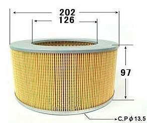 Фильтр воздушный A-422 TopFils (OEM: MAZDA 145623603, RF0113Z40, RF0123Z40; NISSAN 16546HC200) - изображение