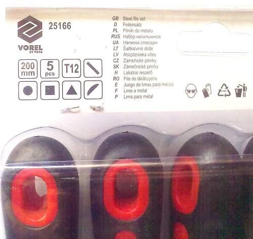 Набор напильников TOYA 25166 (200мм, 5 предм.) - изображение 1