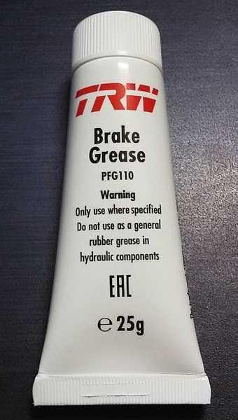 Смазка для направляющих и поршней тормозных суппортов TRW PFG110 (25г) - изображение