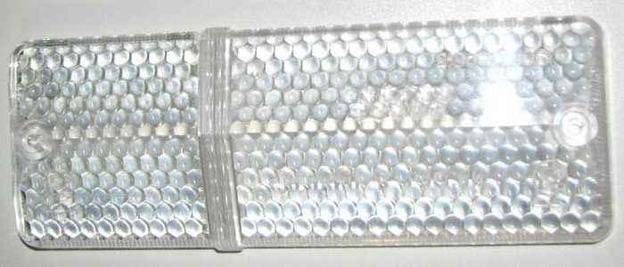 Стекло подфарника ВАЗ-2106 левое белое (2103-3712071) - изображение