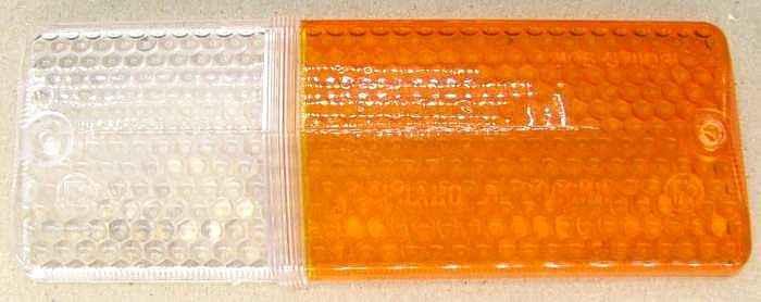 Стекло подфарника ВАЗ-2106 левое желтое (2103-3712071) - изображение