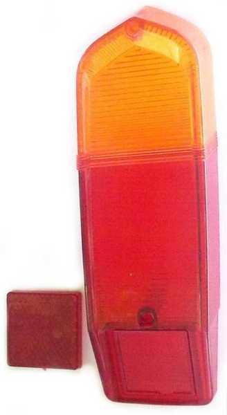 Стекло заднего фонаря (рассеиватель) ВАЗ 2102 1шт правое=левое (2102-3716170) - изображение