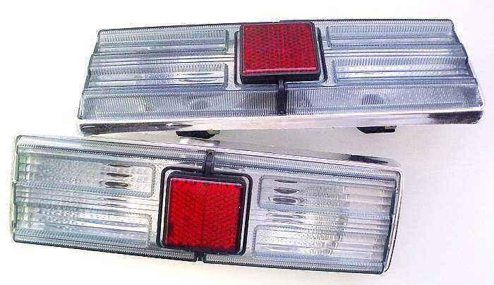 Фонари задние ВАЗ 21011 тюнинг белые дымчатые (комплект 2шт) - изображение 1
