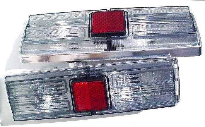 Фонари задние ВАЗ 21011 тюнинг белые дымчатые (комплект 2шт) - изображение