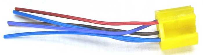 Разъем реле 5-контактный керамический в изоляции  - изображение