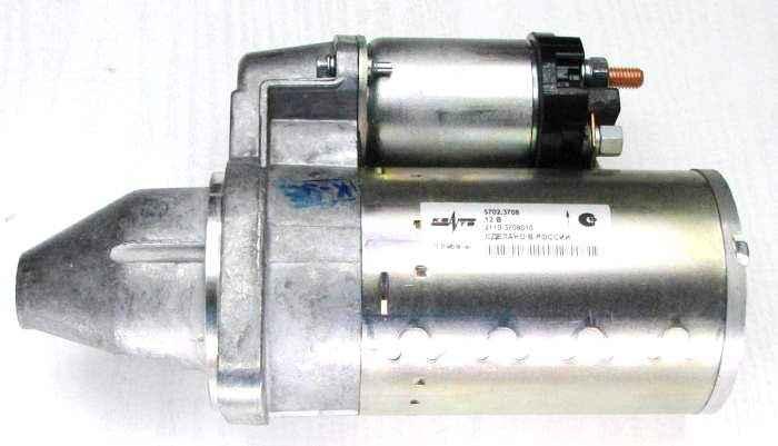 Стартер ВАЗ 2110, 1118, 2170 Приора (до 03.2010г) редукторный КЗАТЭ 5702.3708 (2110-3708010) - изображение