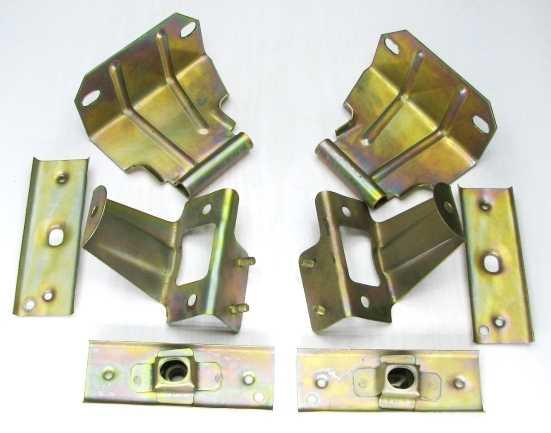 Кронштейны бампера ВАЗ 2108 передние (2108-2803018 + 2108-2803019) - изображение