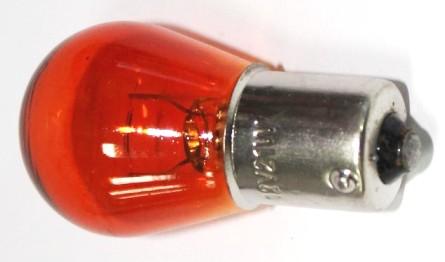 Лампа 12V 21W (PY21W) оранжевая BA15s Маяк - изображение